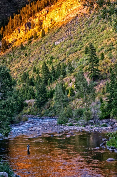 Non-mechanized activities like fly fishing are allowed in designated Wilderness Areas.