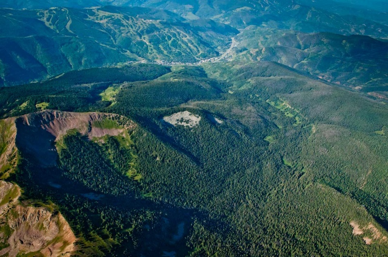 Aerial view of the proposed Spraddle Creek Wilderness Addition to the Eagles Nest Wilderness included in US Congressman Joe Neguse and US Senators Michael Bennet and John Hickenlooper's Wilderness Bill the CORE Act.