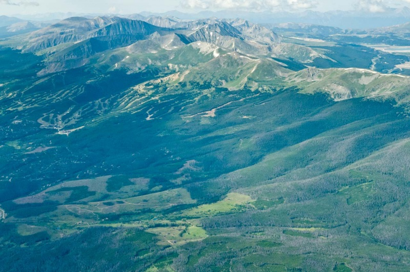 Aerial view of the proposed Tenmile North Recreation Management Area and Tenmile Wilderness Areas included in US Congressman Joe Neguse and US Senators Michael Bennet and John Hickenlooper's Wilderness Bill the CORE Act.