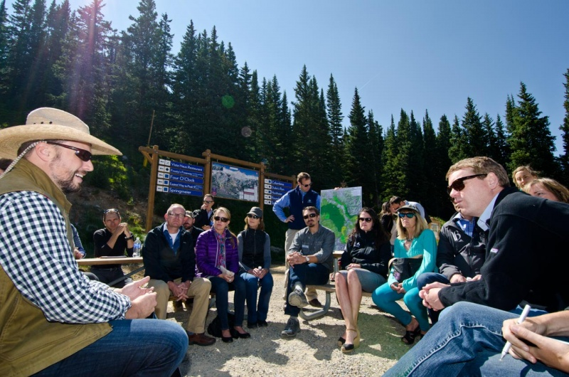 On Breckenridge Mountain, stakeholders make their case to Colorado Senator Michael Bennet on the benefits of Wilderness expansions in Colorado.