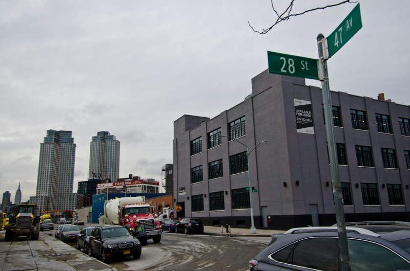 The headwaters of Dutch Kills has been long buried by heavy industrialization in Long Island City, New York.