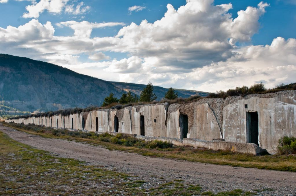 Abandoned Munitions Bunkers at Camp Hale
