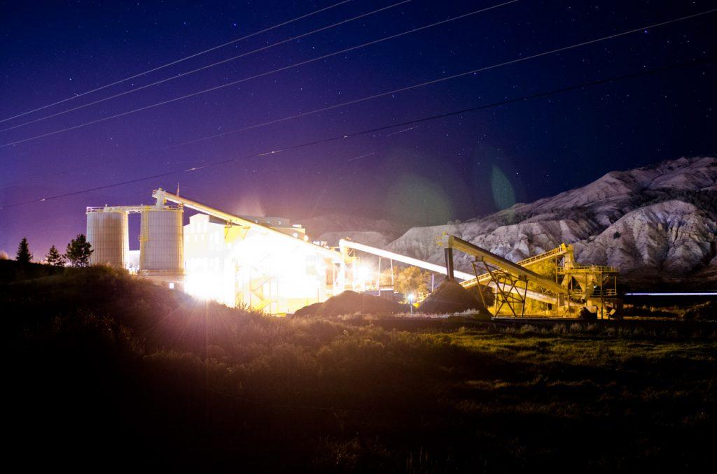 A biomass energy facility in Colorado