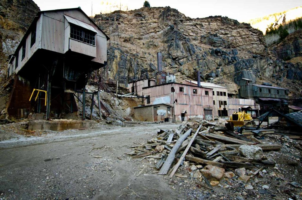 Abandoned Buildings at the Eagle Mine Superfund