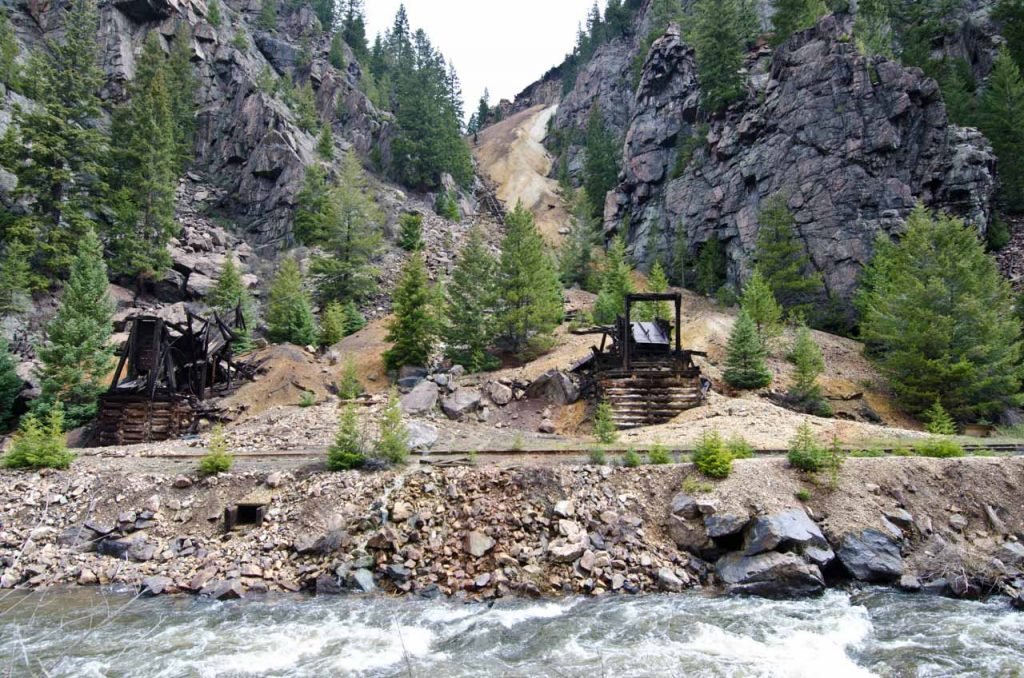 Abandoned Mining Operations Along the Eagle River