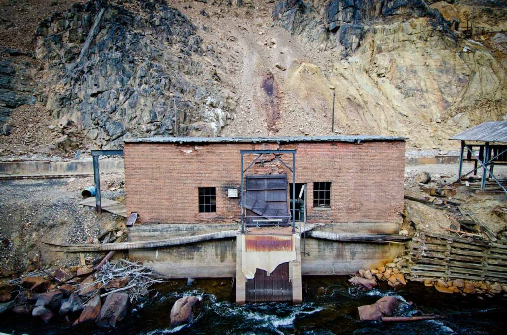 Abandoned Building and the Eagle River