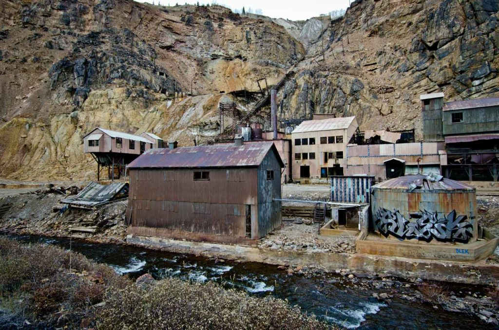 Buildings at the Eagle Mine Superfund Site