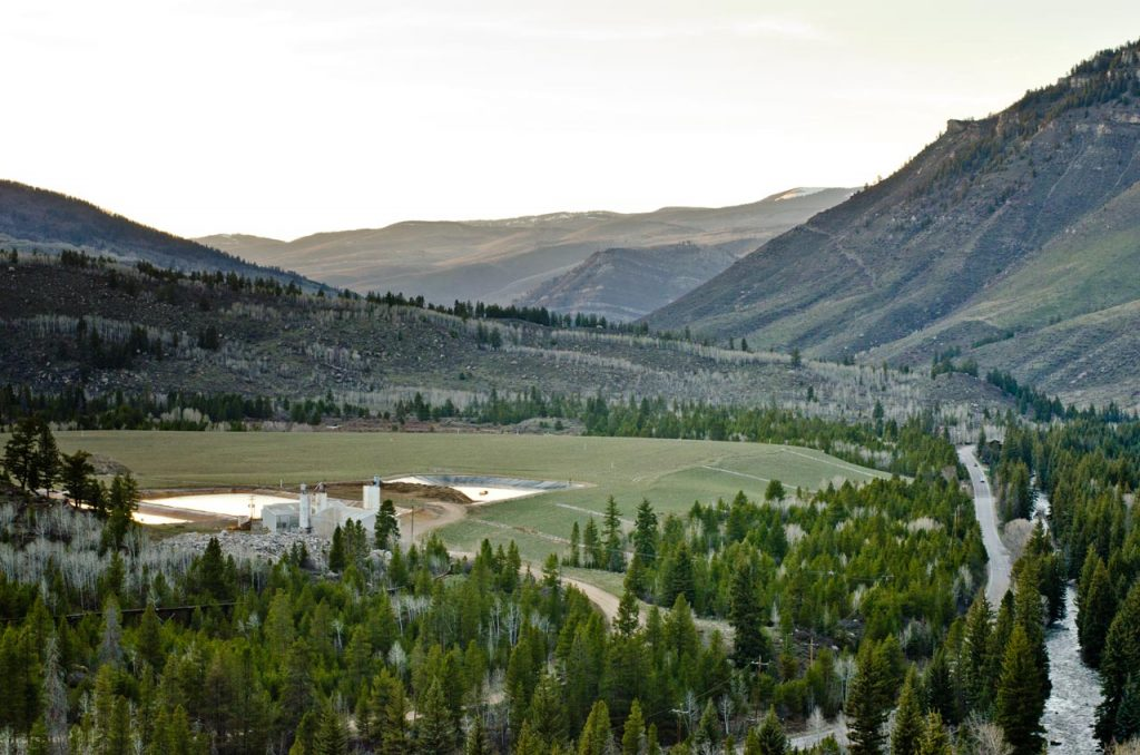 Looking Down on the Eagle Mine Wastewater Treatment Plant