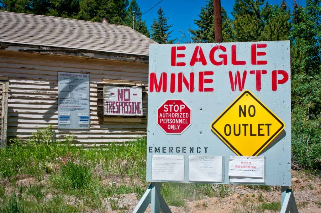 Entrance to the Eagle Mine Wastewater Treatment Plant