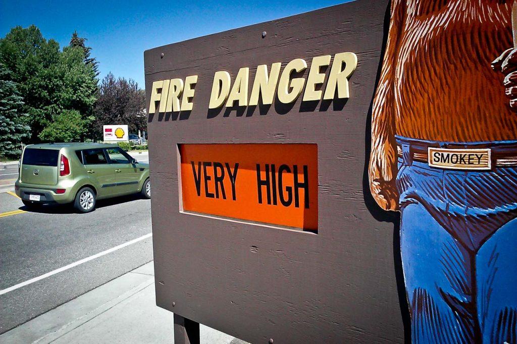 USFS Sign Fire Danger Very High