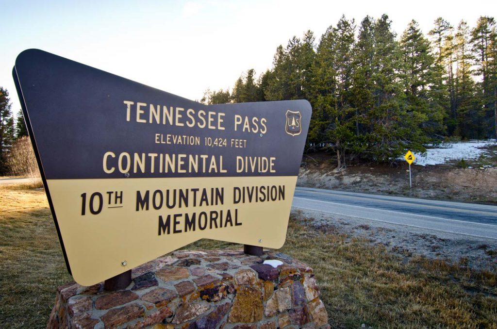 Tennessee Pass on the Continental Divide