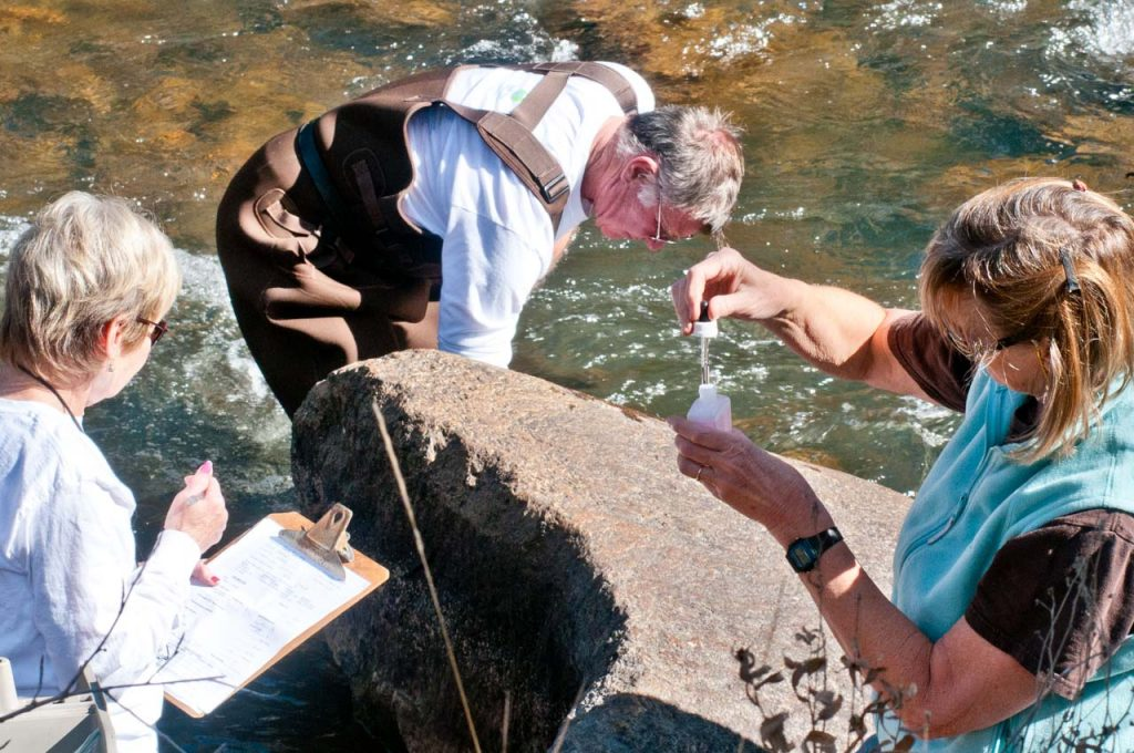 Testing Water Quality on the Eagle River